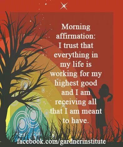 Morning affirmation with AWE app.