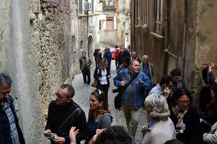 #invasoridigitali a via san Francesco d'Assisi