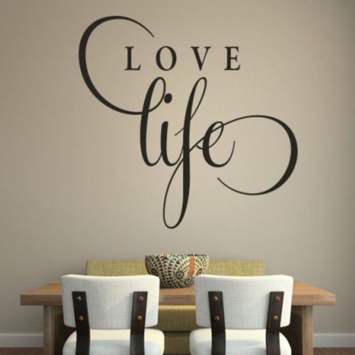 Love Life Inspirational Wall Sticker Love Quote Design Transfer Vinyl Decor Q49 | eBay