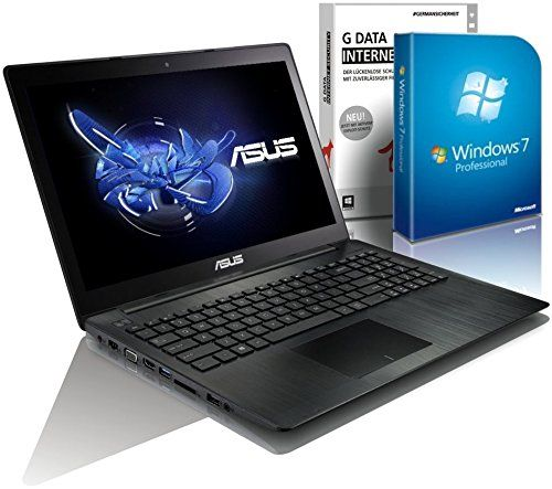 ASUS 55xMA (15,6 Zoll) Notebook (Intel N2830 Dual Core 2x2.16 bis zu 2.42 GHz, 4GB RAM, 640GB S-ATA HDD, Intel HD Graphic, HDMI, Webcam, USB 3.0, WLAN, DVD-Brenner, Windows 7 Professional 64 Bit) #4804