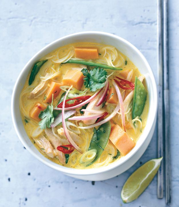 Spicy Curry Noodle Soup with Chicken and Sweet Potato | Recipe ...