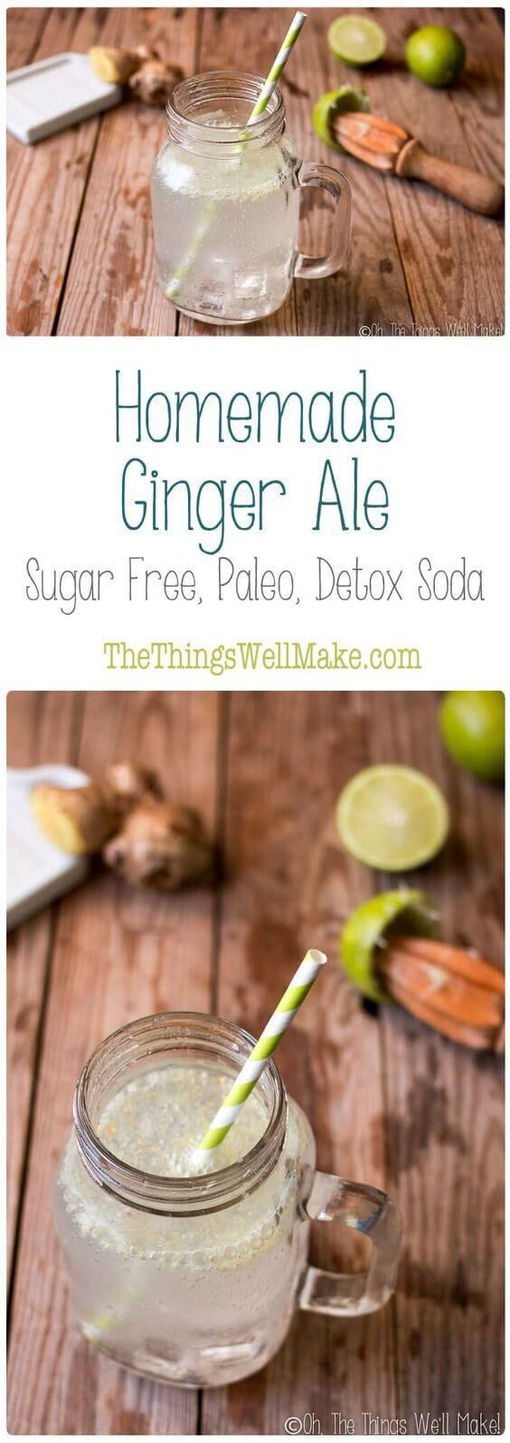 Homemade Ginger Ale - Sugar Free and Paleo