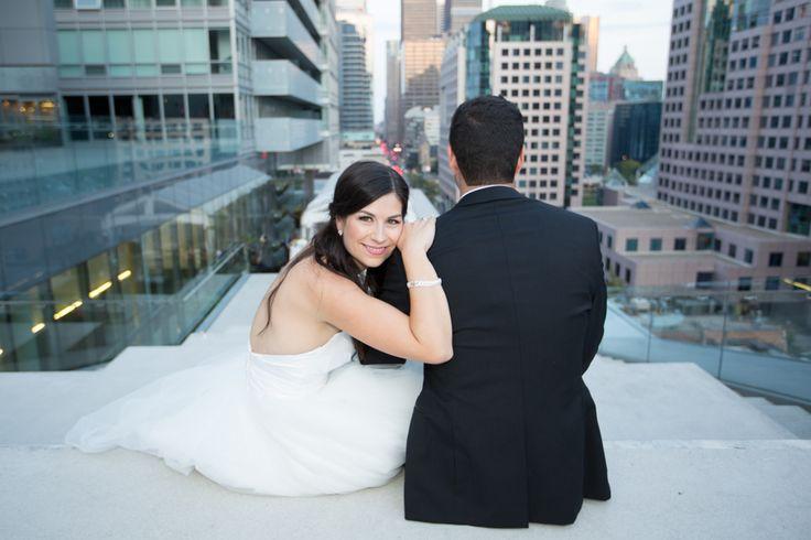 Malaparte Terrace bride and groom