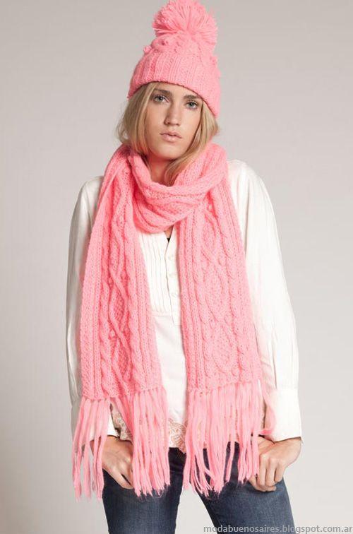 Bufandas moda invierno 2013 Agostina Bianchi