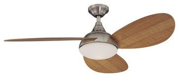 Shop Harbor Breeze 52-Inch Avian Ceiling Fan, Brushed Nickel - eclectic - ceiling fans - Lowe's