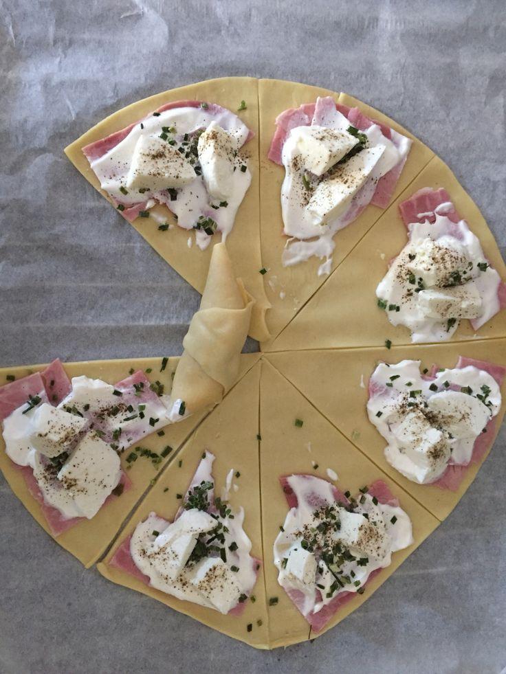 Croissant salé Jambon / Mozza