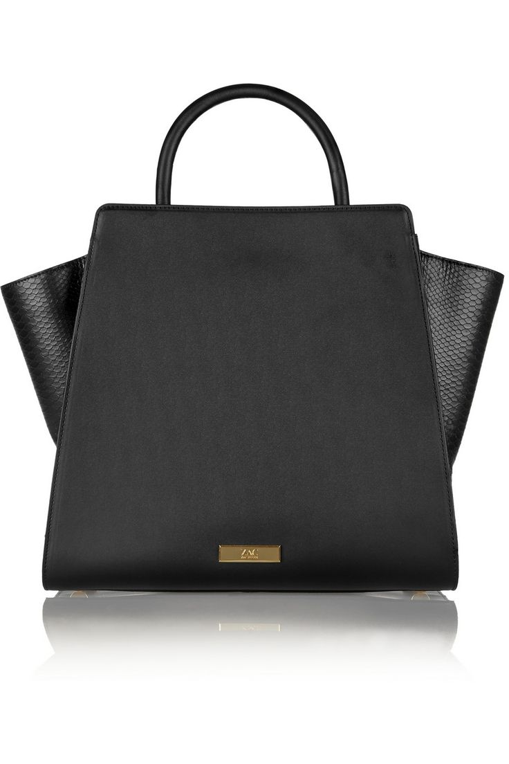 ZAC Zac PosenEartha North/South smooth and snake-effect leather totefront