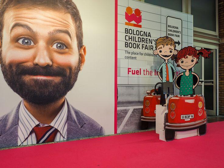 Mimi & Fergus having a last play on the last day of the Bologna Children's Book Fair, Italy.