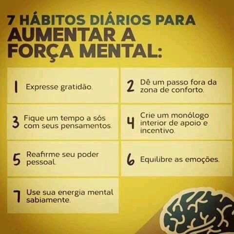 7 Hábiots diários para aumentar a força mental