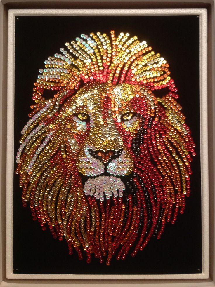 Sequin Art lion