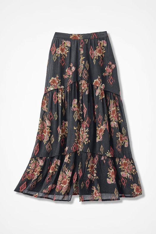 332ae459394ba Santa Fe Sunrise Maxi Skirt