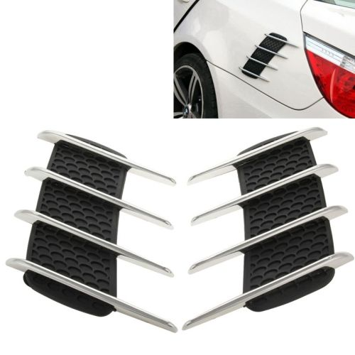 [USD2.56] [EUR2.37] [GBP1.84] Hood Side Shark Gill Simulation Air Flow Vent Fender Sticker for Car Decoration, Pack of 2, Size: 22cm x 20cm x 2cm