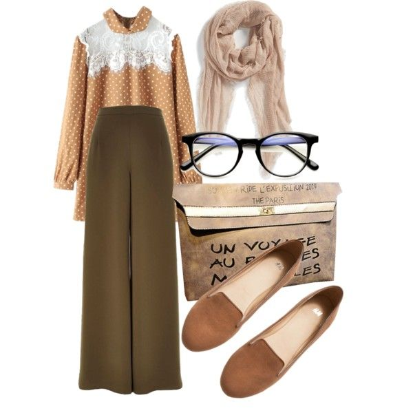 A fashion look from February 2015 featuring River Island pants, H&M loafers and Tildon scarves. Browse and shop related looks.