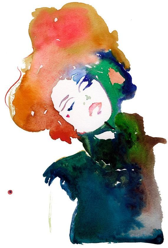 Archival Prints Of Modelink 5 Watercolor Illustration