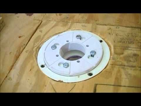 How To Install Drain For Shower ( 2'' Oatey PVC Assembly ) - YouTube