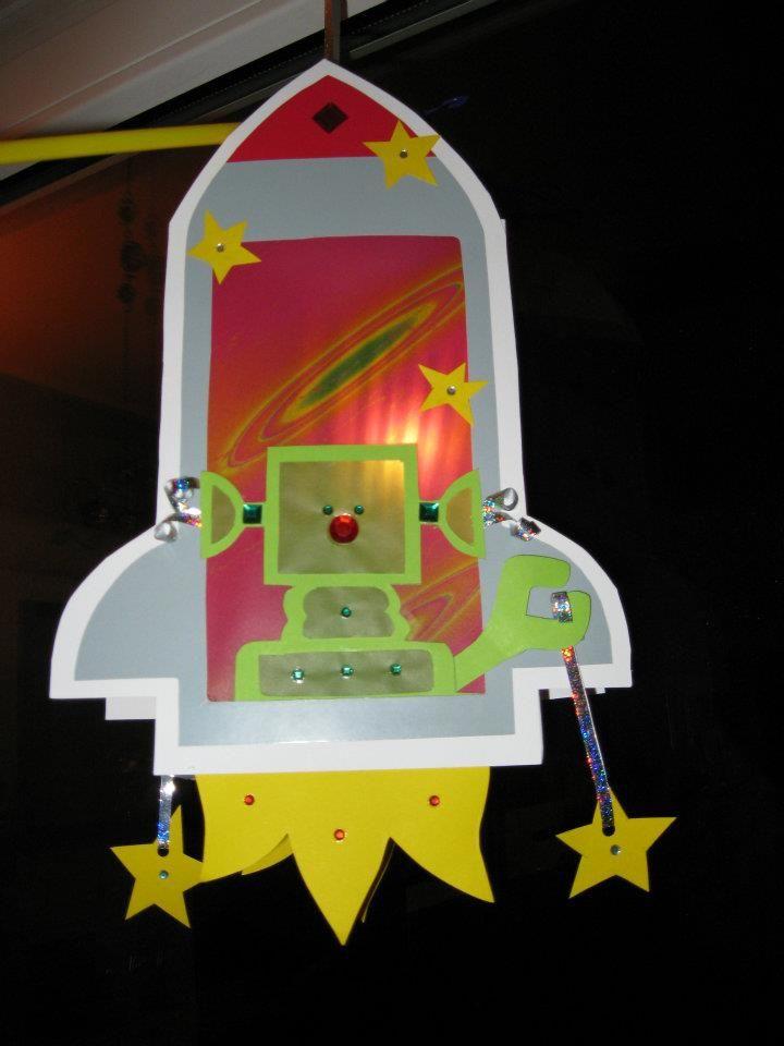 lantern Rocket Alien Laterne Rakete Alien