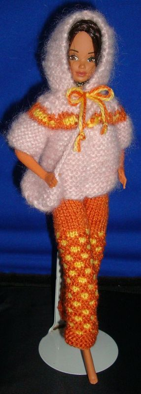 464 best barbie doll knitting patterns images on pinterest ladyfingers barbie sweater with hood and honeycomb pants free knit pattern dt1010fo