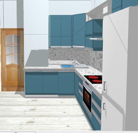 Боковая стена кухни