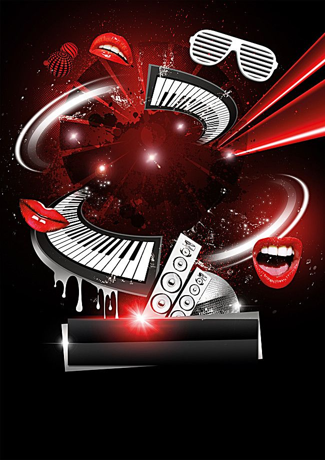 Dynamic Black Music Party Poster Poster Background Design Party Poster Aladdin Wallpaper