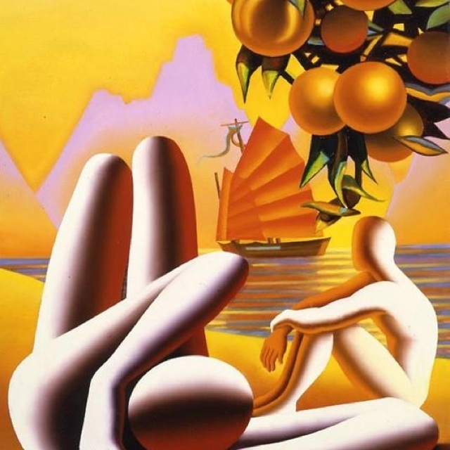 exoticOrange Melted, Abstract Art, Kostabith Junk, Marc Kostabi, Canvas, Pintura Artística, Compo Mark, Mark Kostabith, Art Painterssculptor