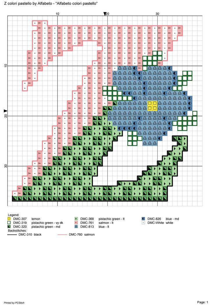 alfabeto colori pastello: Z