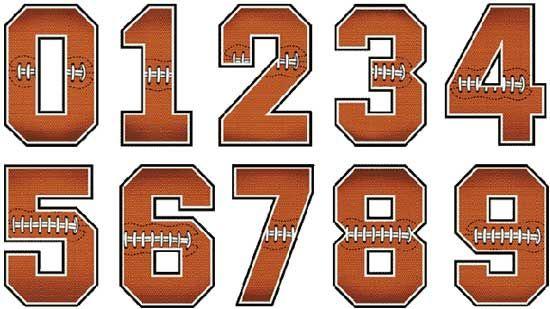 Football Number Font