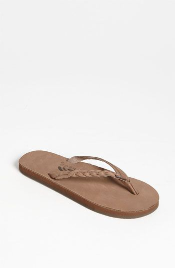 Rainbow 'Flirty' Braided Leather Flip Flop (Women) | Nordstrom