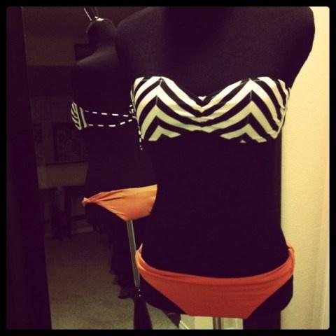 chevron bikini