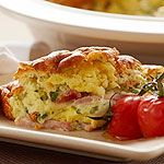 Easy Ham and Canadian Swiss Cheese Souffle