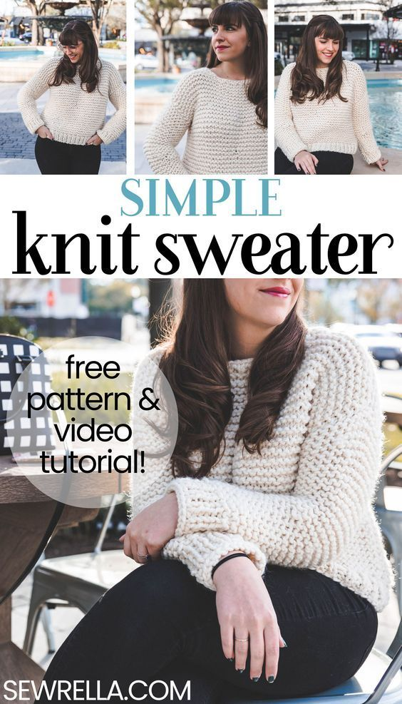 Simple Knit Sweater Happy Knitting Pinterest Free Pattern And