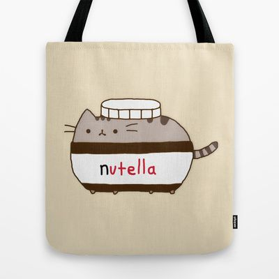 Nutella Cat Tote Bag by Marvin Fly