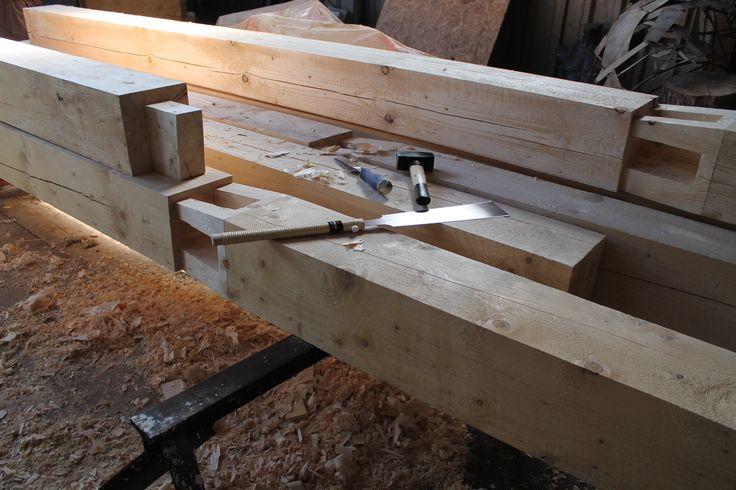 Timber framing joint, balcony www.drewnoikamien.pl