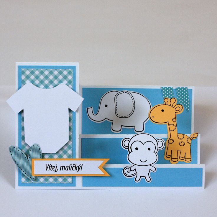 Step card with soft toys
