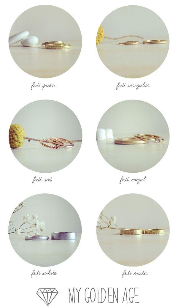 My Golden Age Luca: una linea di fedi gioielli dalle linee semplici, leggere ed eleganti, con influenze retrò e dettagli moderni.
