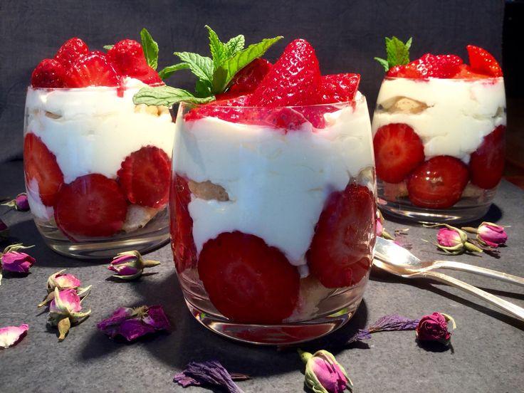 Strawberry Tiramisú in a glass  recipe on my blog: www.cukit.it