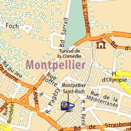 Carte détaillée Montpellier - plan Montpellier - ViaMichelin