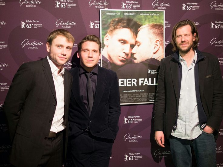 Max Riemelt, Hanno Koffler, Stephan Lacant  Perspektive Deutsches Kino Freier Fall (Free Fall)  The two leading actors and the director.  Berlinale 2013