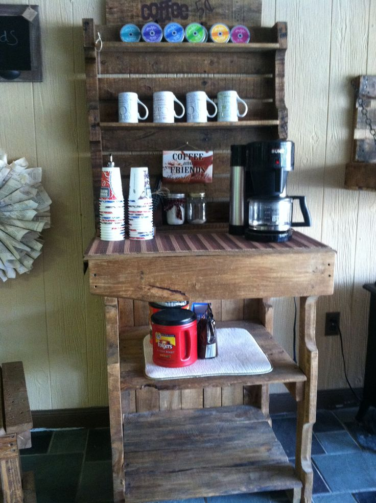 pallet coffee bar diy furniture pinterest bar