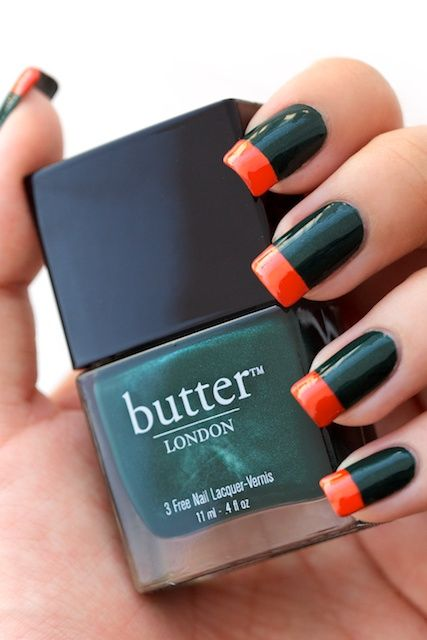 butter LONDON British Racing Green with Dior Aloha