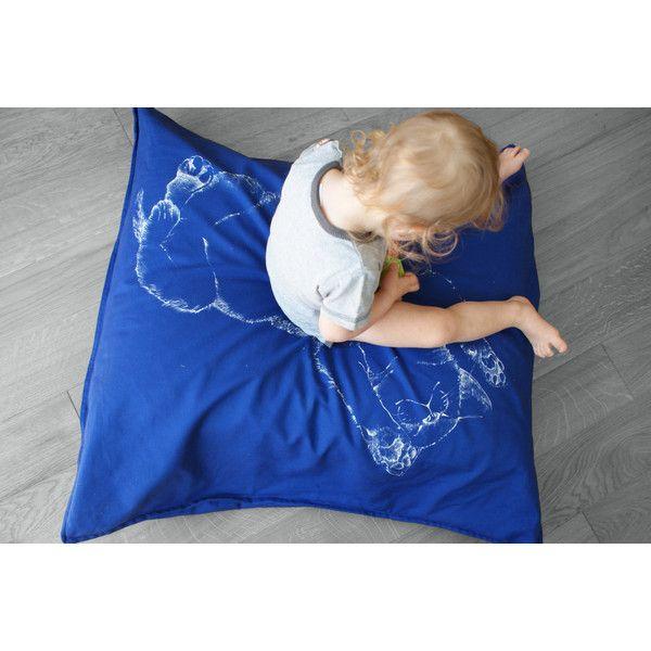 Cobalt blue floor pillow, Cat floor cushion, Cat pillow case, Blue... (200 PLN) ❤ liked on Polyvore featuring home, home decor, throw pillows, cobalt blue accent pillows, cobalt blue home decor, cat home decor, blue throw pillows and cat throw pillows
