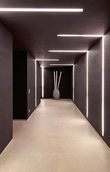 Lighting design inside the Private House Chameleon in Mallorca.