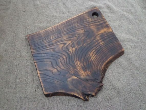 Old Rustic Cutting Board Wooden Serving Board Chopping by Woodber