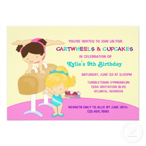 11 best Gymnastics themed party ideas images on Pinterest - best of invitation wording for gymnastics party