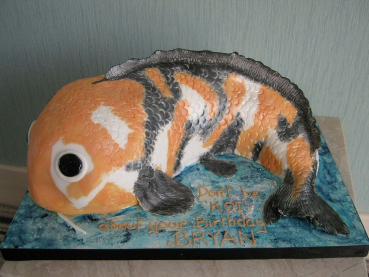 44 best koi carp images on pinterest cake animal cakes for Koi pool blackpool