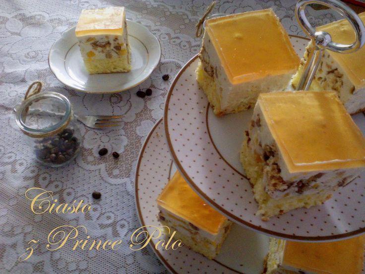 Ciasto z Prince Polo (i brzoskwiniami) PRZEPIS