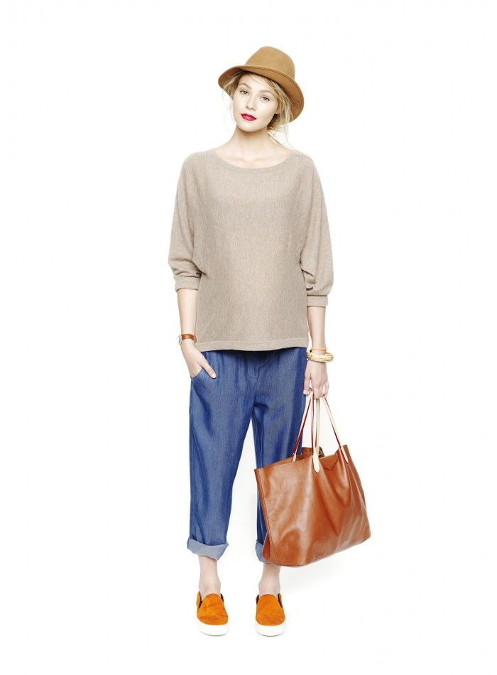 The Ballet Sweater   We love this simple cashmere maternity sweater  by Hatch. A perfect casual choice with it's solid color and knit texture.