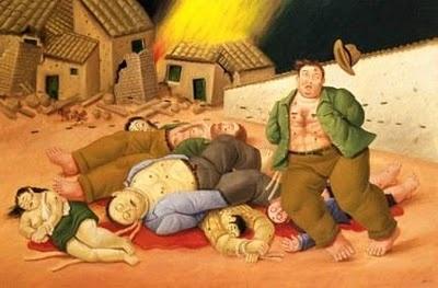 Masacre en Colombia por Fernando Botero 2000