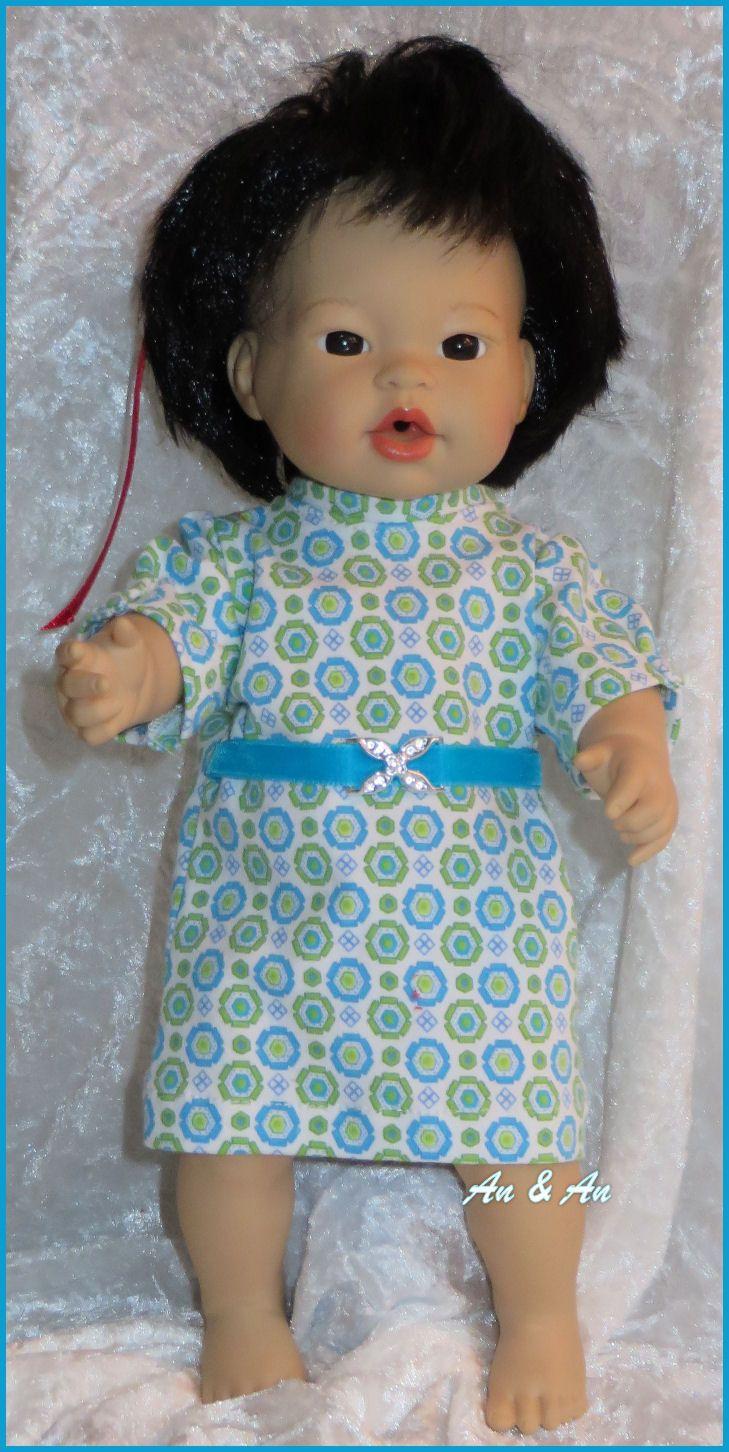 tricot jurkje voor little baby born www.poppenmode.com