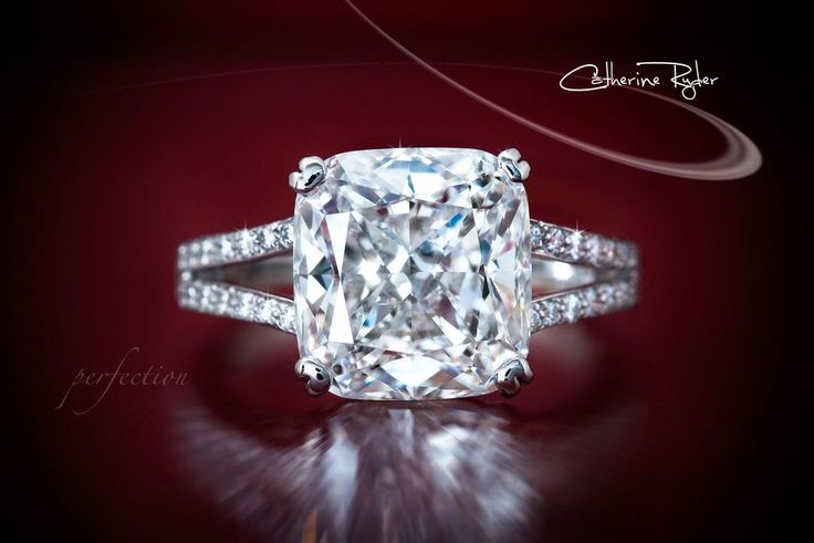 cushion cut center stone and a split shank!