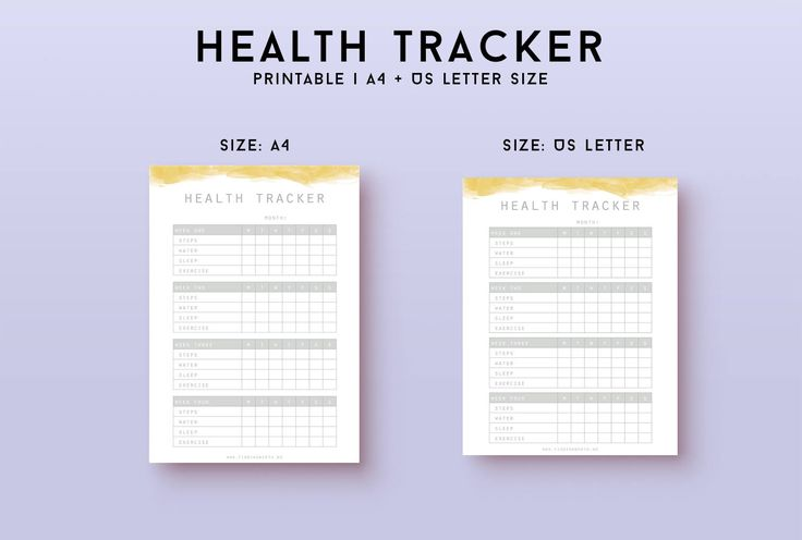 Track your health to see patterns and habits. When you know your habits, you can change them for the better! Use this tracker to plan the life you want. Minimal design with a watercolor header, easy to print. Included in purchase - PDF tracker - A4/US letter size - Week with Monday or Sunday first The tracker has clear margins so you can put it in a folder or print as is. Once purchased you can print the planner as much as needed. Please do not redistribute. THIS IS AN INSTANT DOWNLOA...